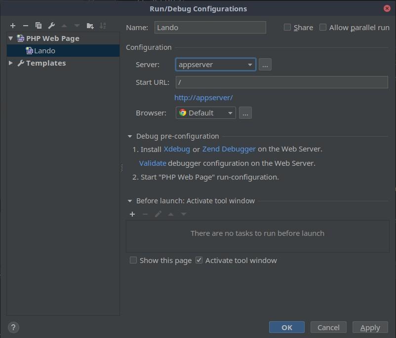 PhpStorm debug configuration step 4